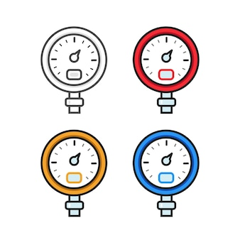Manometer. pressure gauge.