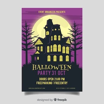 Manson in night halloween party poster