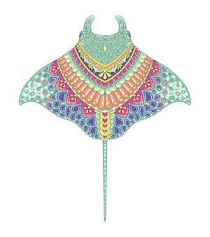 Manta colorful mandala design