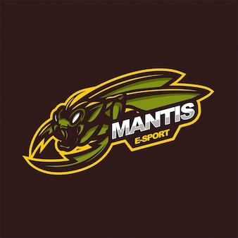 Mantis e-sport gaming mascot logo template