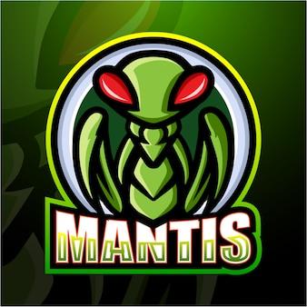 Mantis mascot esport illustration