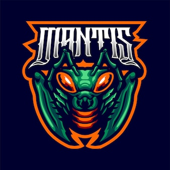 Mantis mascot logo for sport and esport isolated