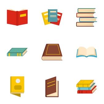 Manual icons set, cartoon style