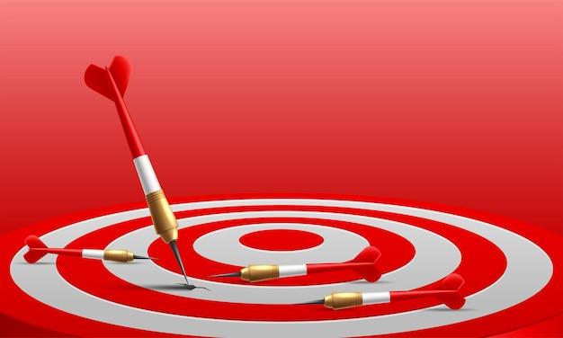 Many arrows missed hitting target mark