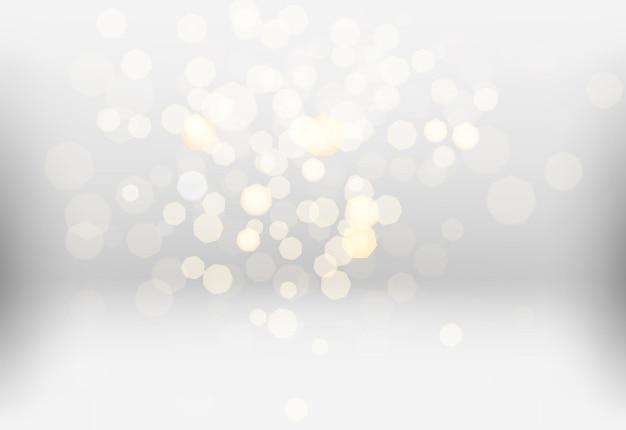 Многие яркие размытые огни на ярком фоне.