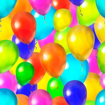 Many bright colorful balloons, seamless pattern background