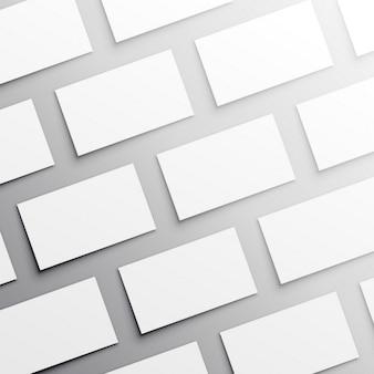 Many business cards, mock up