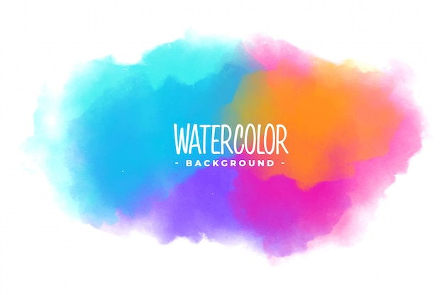 Many colors watercolor stain texture background