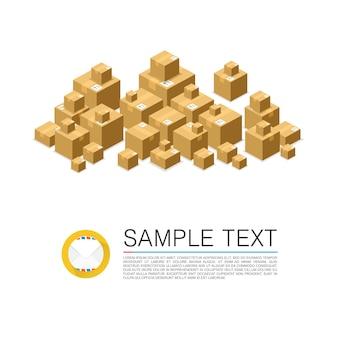 Многие почтовые ящики подписывают искусство. векторная иллюстрация