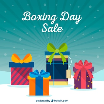 Many presents on a boxing day