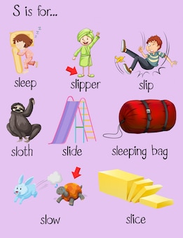 Many words begin with letter s