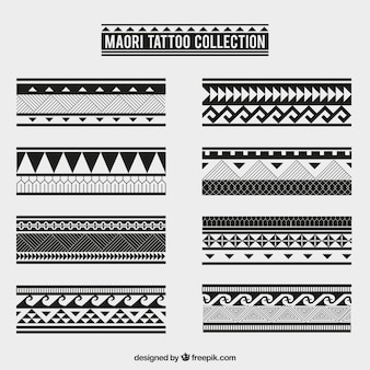 Maori tribal tattoo collection