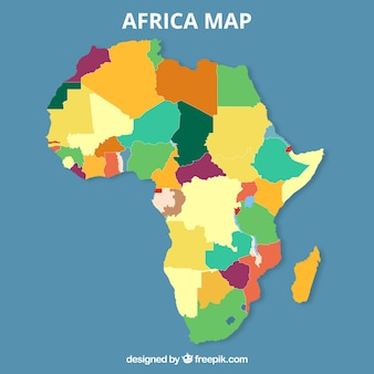 Map of africa in flat style