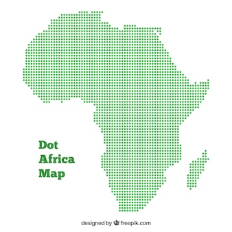 Map of africa with dots of colors
