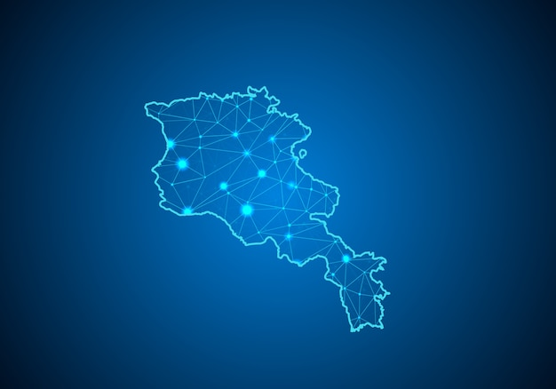 Map of armenia.