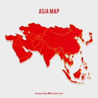 Asia Map Vectors Photos And Psd Files Free Download