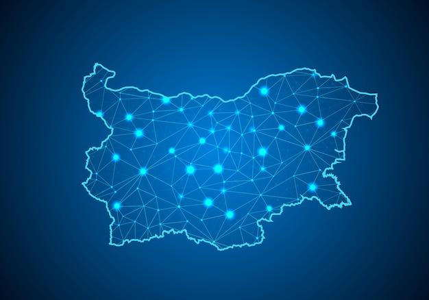 Map of bulgaria.