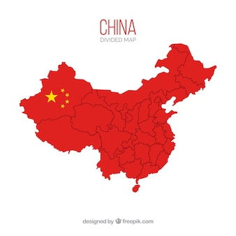 Map of china with borders