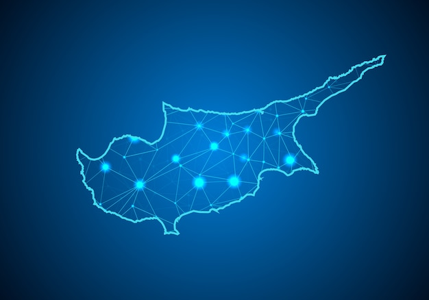 Map of cyprus.