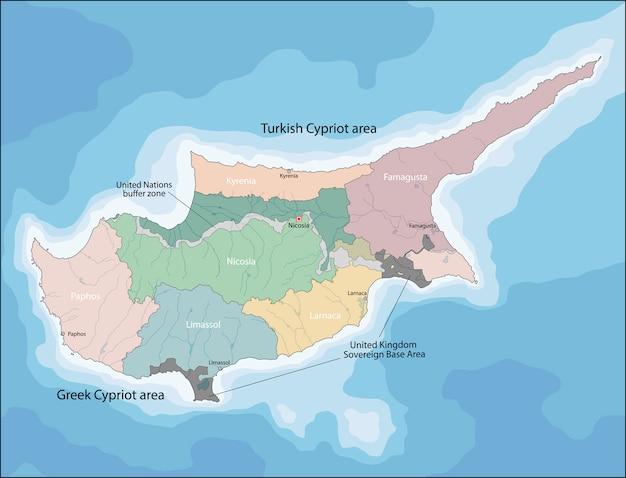Map of cyprus Premium Vector
