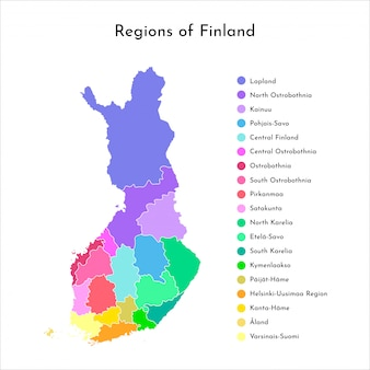 Map of finland regions