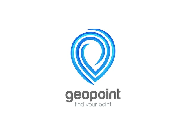 Map geo point locator navigation logo.