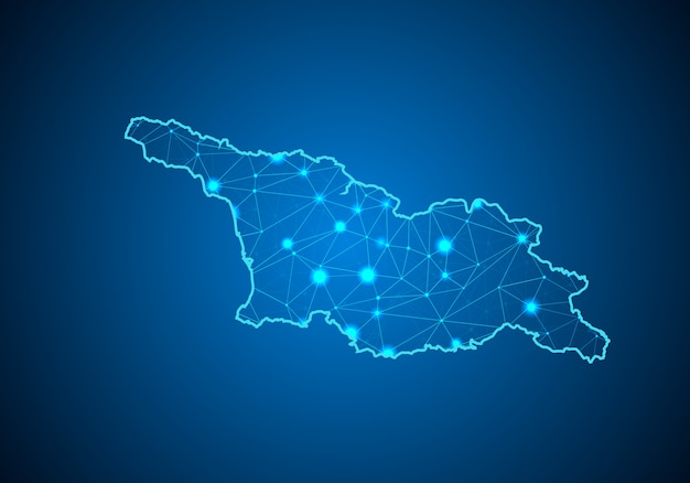 Map of georgia south ossetia.