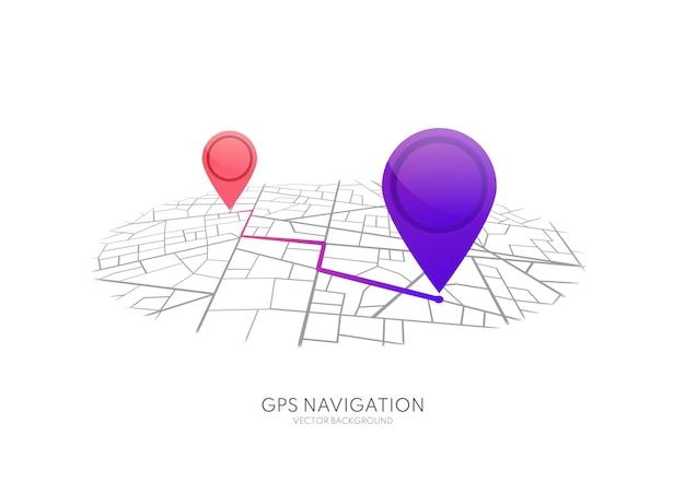 핀 경로 대시 보드 앱 경로 탐색기가있는 gps 네비게이션 도시 거리지도지도