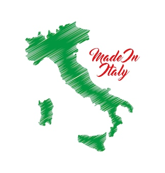 Map icon. italy culture design. vector graphic