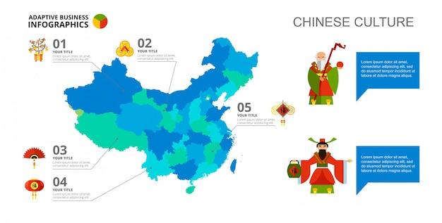 Map infographics slide template