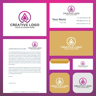 Map logo and business card