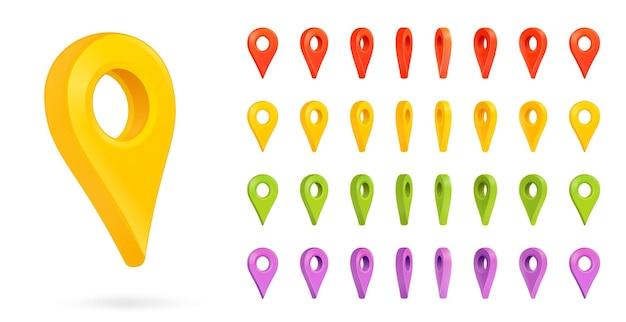 Map mark and geo pin place address navigation