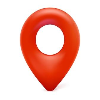 지도 마커, 지도 핀 아이콘, 흰색 배경에 고립 된 지리적 위치에 대 한 3d 현대 벡터 기호