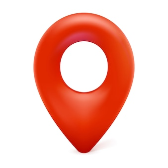 Map marker, map pin icon, 3d modern vector sign for geo location isolated on white background