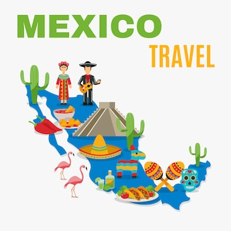 Map mexico background