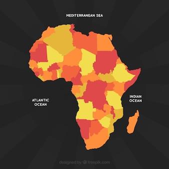 フラットスタイルのアフリカの地図