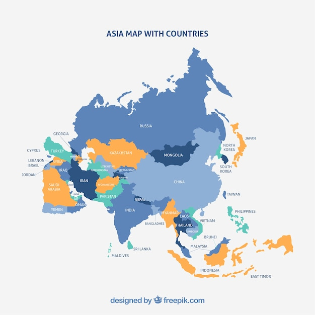 Asian map bharoncch