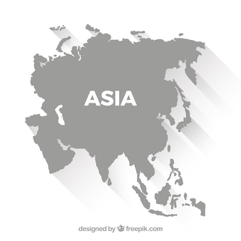 Asia vectors photos and psd files free download map of asia in flat style gumiabroncs Images