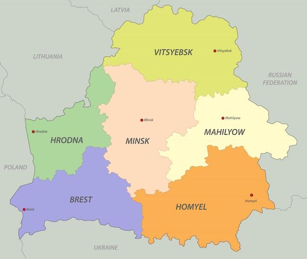ベラルーシの地図