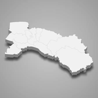 チャチューンサオの地図はタイの州です