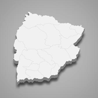 チャイヤプームの地図はタイの州です