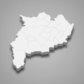 チェンライの地図はタイの州です