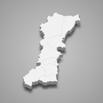 チュンポンの地図はタイの州です
