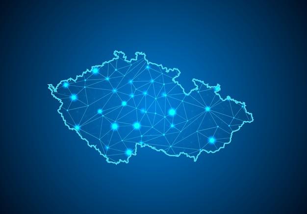 Карта чешской республики.