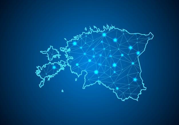 Карта эстонии.