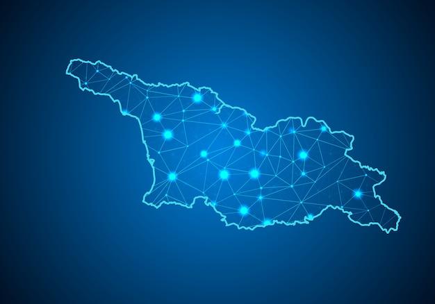 조지아의지도.