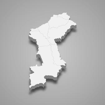 の地図はタイの州です