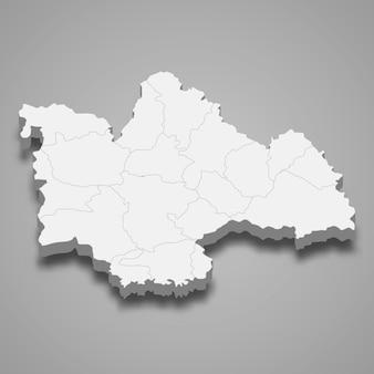 カーラシンの地図はタイの州です