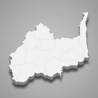 ロッブリーの地図はタイの州です