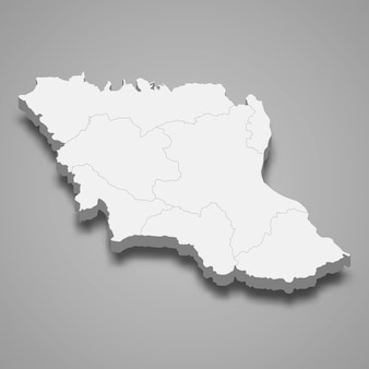 ムクダハンの地図はタイの州です